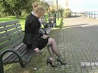 Blonde Iona Tempting In Her High Thin Stiletto Heels To Get Your Fetish Up