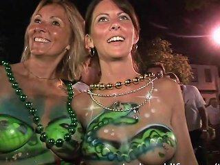 Springbreaklife Video Fantasy Fest Party Girls