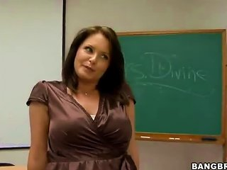 After School Cramming With The Busty Maths Teacher
