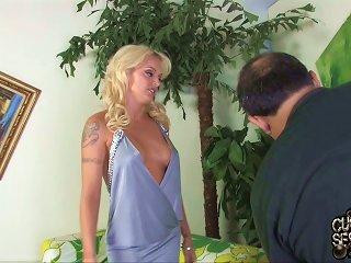 Superb Blonde Slut Monica Mayhem Enjoys Hardcore Interracial Sex